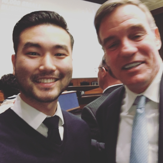 David R. Lee and Senator Warner