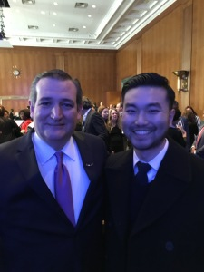 Senator Ted Cruz and David R Lee