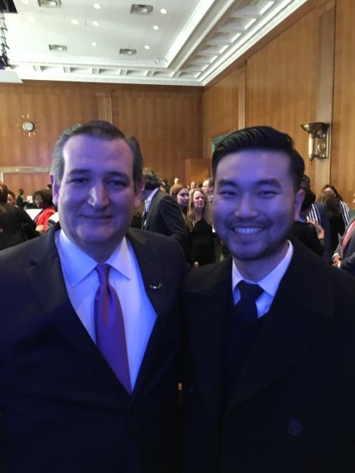 Senator Ted Cruz and David R Lee